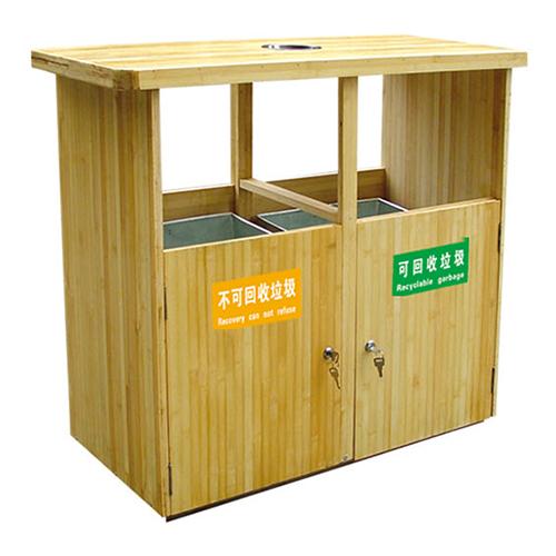 不锈钢、竹木垃圾桶系列 KS-086550