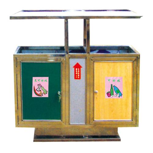 不锈钢、竹木垃圾桶系列 KS-085850