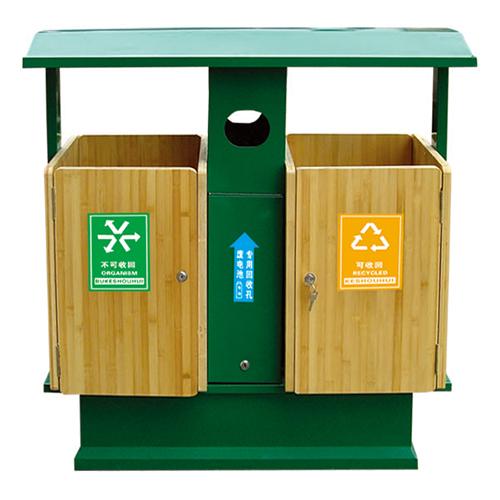 不锈钢、竹木垃圾桶系列 KS-084550