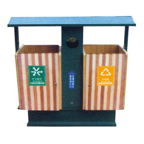 不锈钢、竹木垃圾桶系列 KS-087550