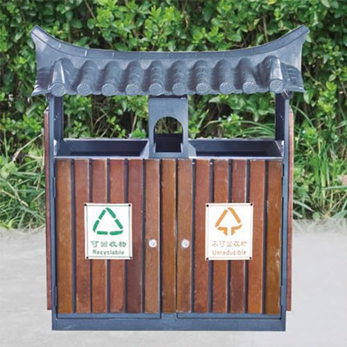 不锈钢、竹木垃圾桶系列 KS-088580