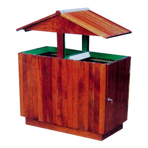 不锈钢、竹木垃圾桶系列 KS-083380