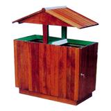 不锈钢、竹木垃圾桶系列 -KS-083380