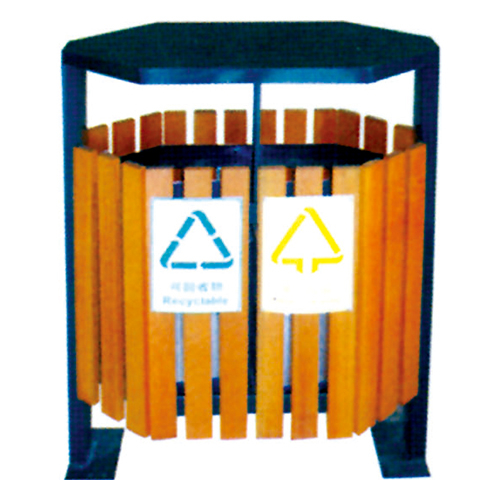 不锈钢、竹木垃圾桶系列 KS-074380
