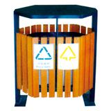 不锈钢、竹木垃圾桶系列 -KS-074380