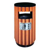 不锈钢、竹木垃圾桶系列 -KS-080320
