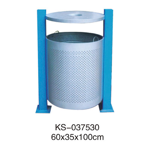 冲孔型钢板垃圾桶系列 KS-037530