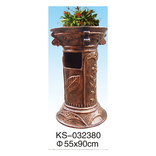 玻璃钢垃圾桶系列 KS-032380