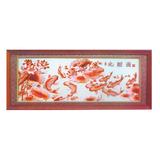 紫铜浮雕系列 -九鲤图