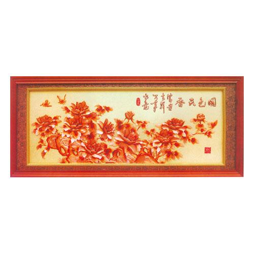 紫铜浮雕系列 国色天香