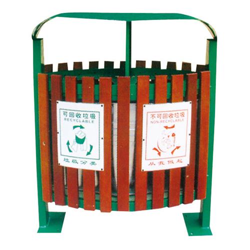 不锈钢、竹木垃圾桶系列 KS-075300