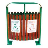 不锈钢、竹木垃圾桶系列 -KS-075300