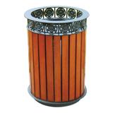 不锈钢、竹木垃圾桶系列 -KS-078350