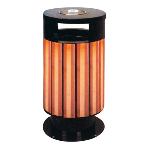 不锈钢、竹木垃圾桶系列 KS-079330