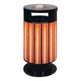 不锈钢、竹木垃圾桶系列 -KS-079330