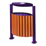 不锈钢、竹木垃圾桶系列 -KS-081440