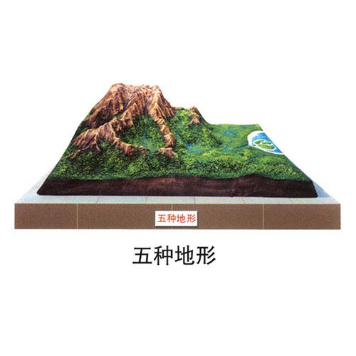 地理园地貌系列 五种地形