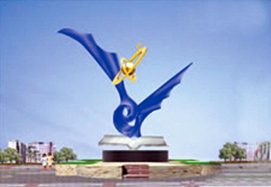 不锈钢雕塑 飞向未来