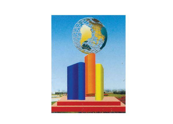 不锈钢雕塑 开拓世界