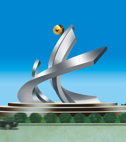 不锈钢雕塑 风正帆高