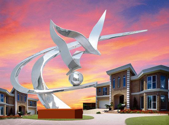 不锈钢雕塑 飞翔