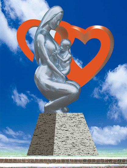 不锈钢雕塑 母爱
