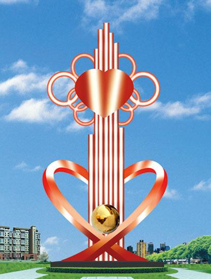 不锈钢雕塑 中国结