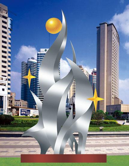 不锈钢雕塑 成长