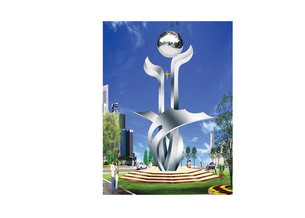 不锈钢雕塑 未来之星B