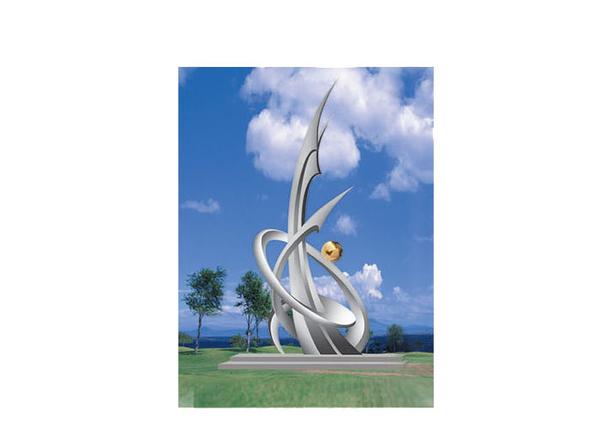 不锈钢雕塑 开拓B