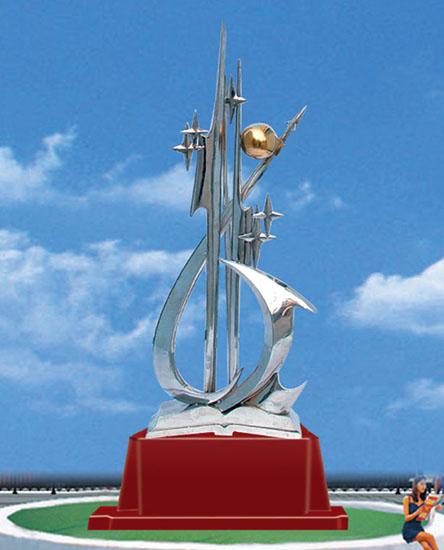 不锈钢雕塑 世纪之星