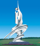 不锈钢雕塑 -崛起