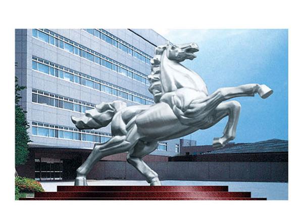 不锈钢雕塑 奔马