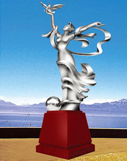 不锈钢雕塑 奉献