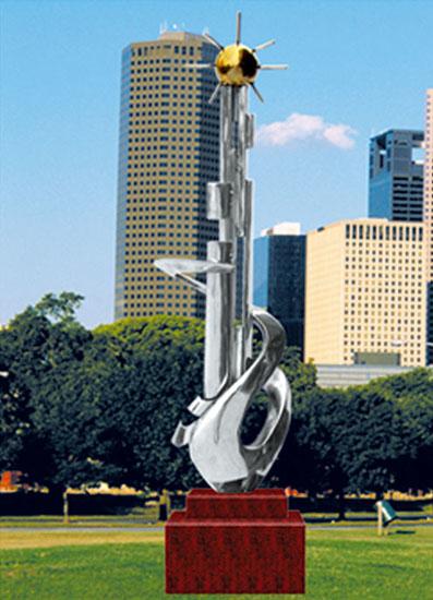 不锈钢雕塑 二十一世纪