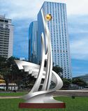 不锈钢雕塑 -扬起世纪风帆