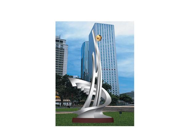 不锈钢雕塑 扬起世纪风帆
