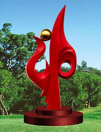 不锈钢雕塑 春晖