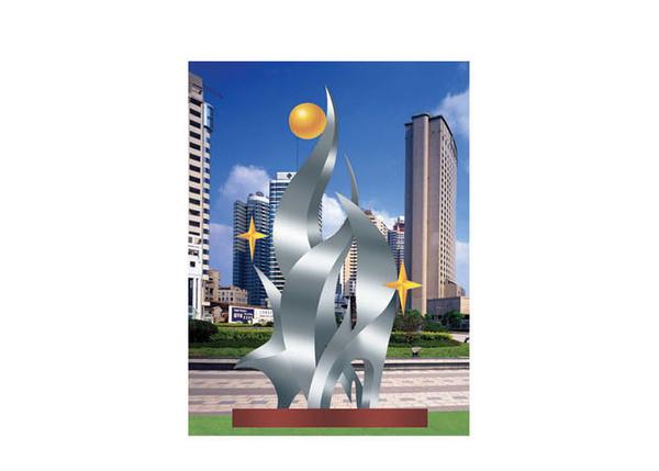 不锈钢雕塑 成长A