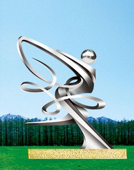 不锈钢雕塑 争先