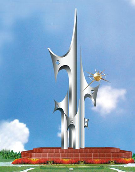 不锈钢雕塑 众志成城