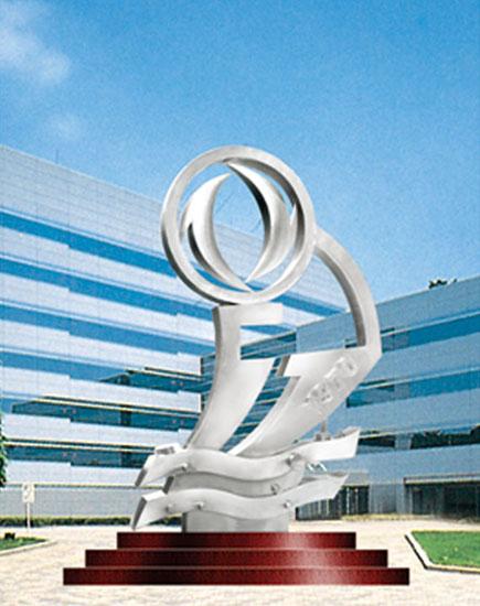 不锈钢雕塑 东风标志