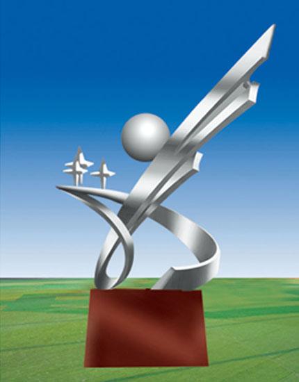 不锈钢雕塑 展翅
