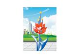 不锈钢雕塑 -祖国的花朵
