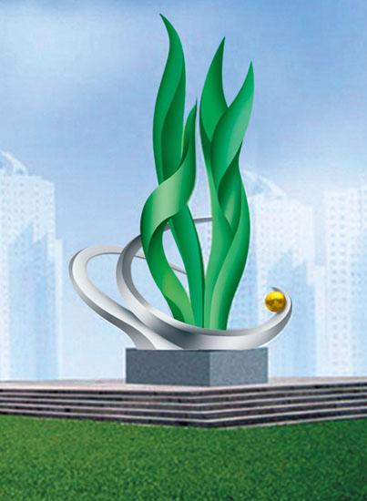 不锈钢雕塑 春绿