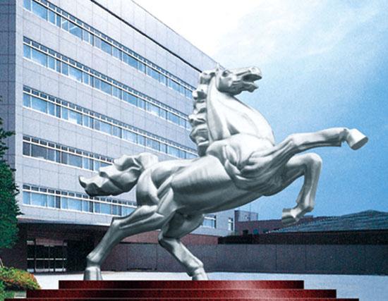 不锈钢雕塑 马