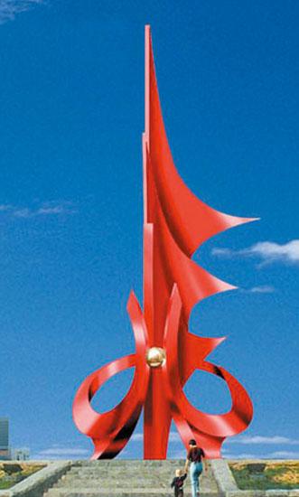 不锈钢雕塑 雄心壮志