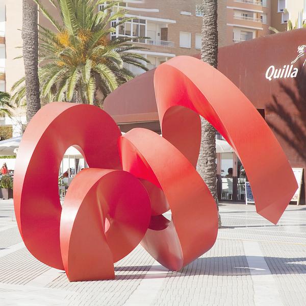 城市雕塑 红色不锈钢雕塑