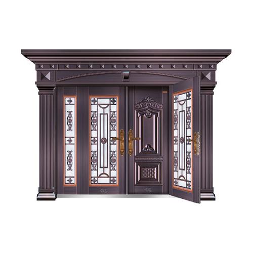 玻璃拼接大门-四开字母复合门MYL-8990