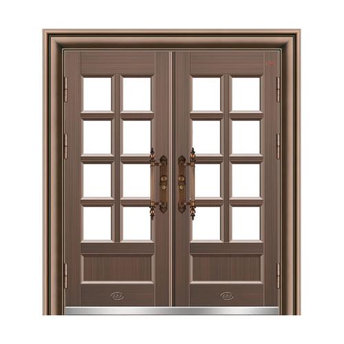 玻璃拼接大门-八方来财MYL-8983